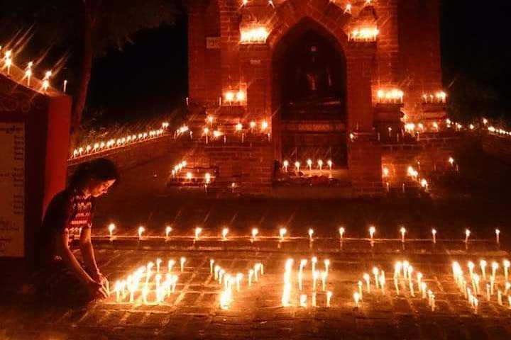 Offering one thousand candle lights